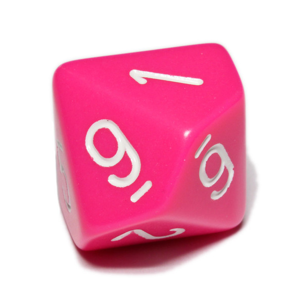 Opaque 10-sided pink dice