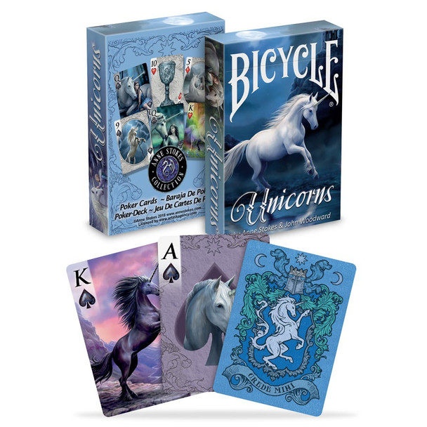 Bicycle Anne Stokes Unicorn playing cards