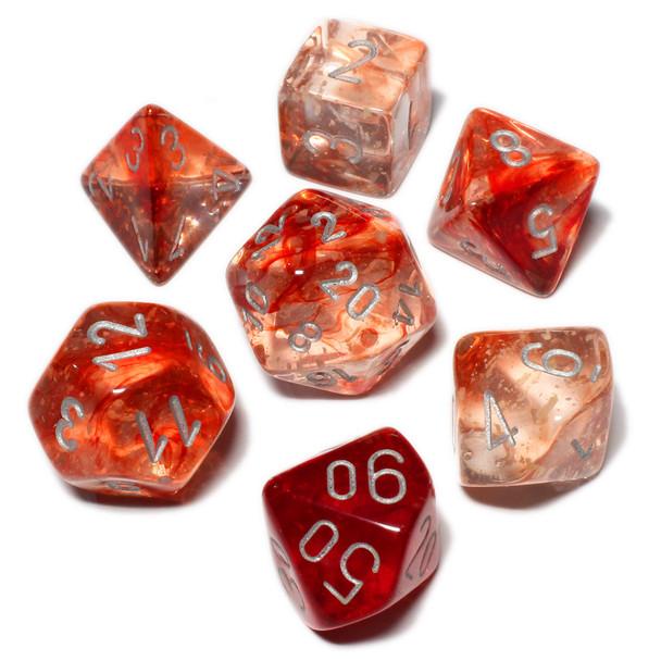 Nebula dice set - Red - D&D dice