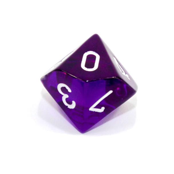 Purple d10 - Translucent