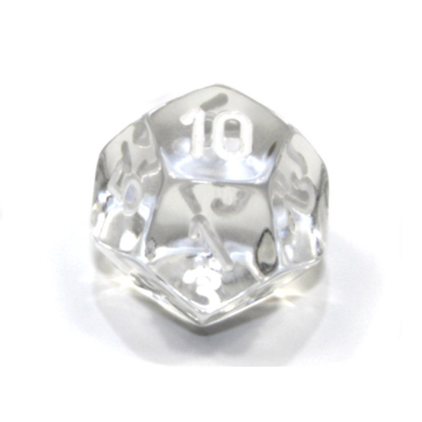 d12 - Transparent clear 12-sided dice