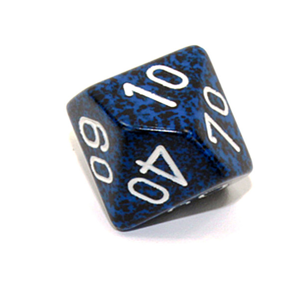 d10 Tens dice - Speckled Stealth