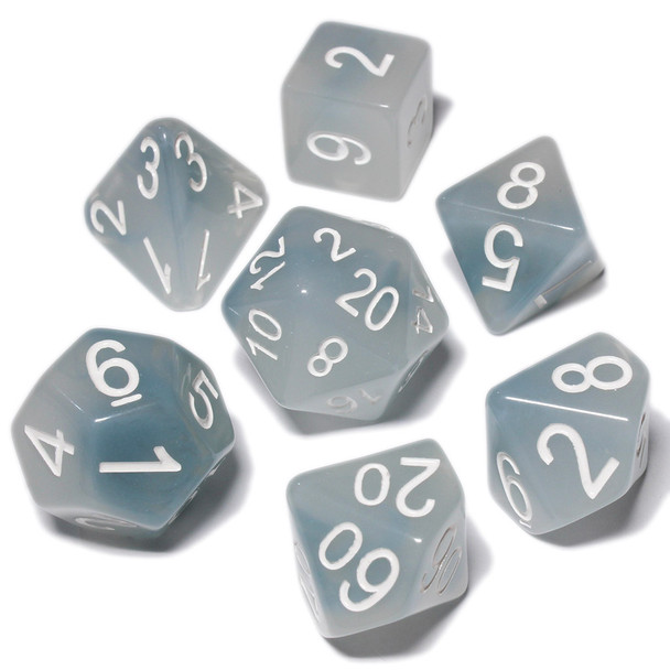 Polyhedral dice set - D&D dice - Ghostly Grudge