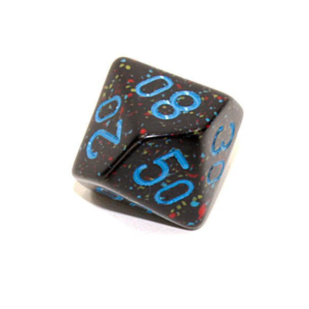 d10 tens dice - Speckled Blue Stars