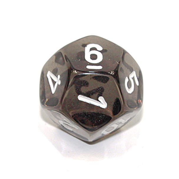 d12 - Transparent smoke 12-sided dice