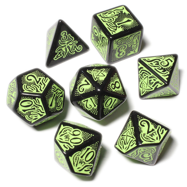 Call of Cthulhu Dice Set - Black and Green