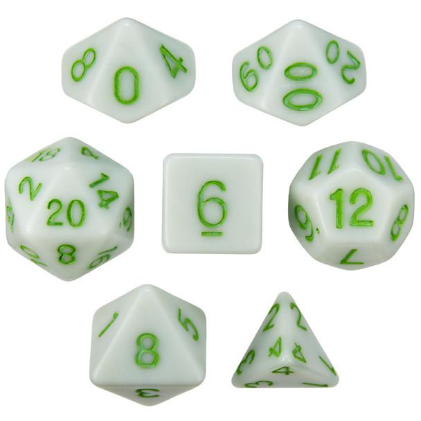 Grave Moss D&D dice set