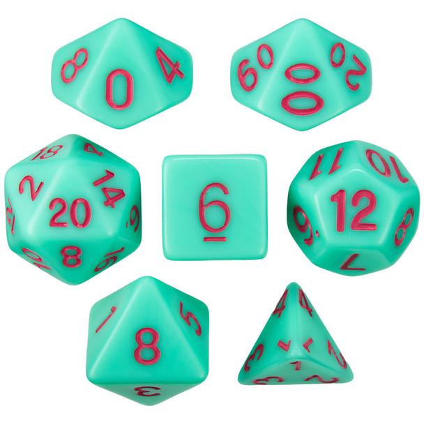 Mystic Matcha dice set - D&D, Pathfinder, etc