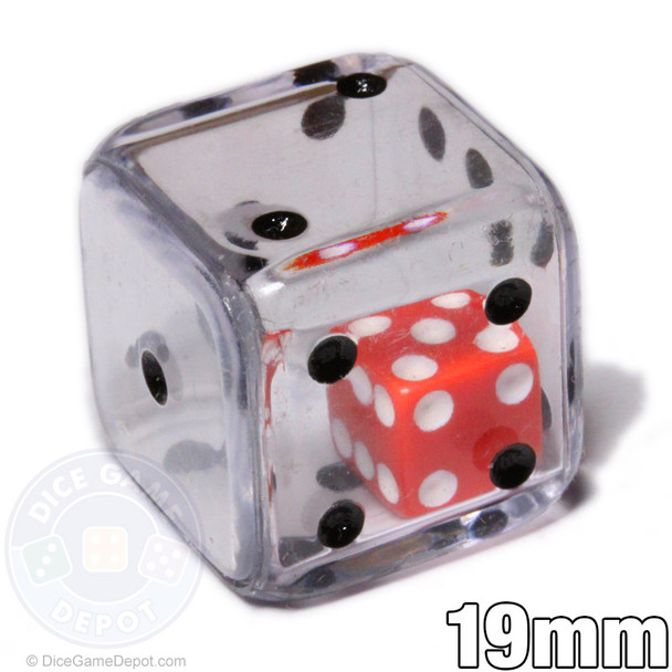 Clear double dice