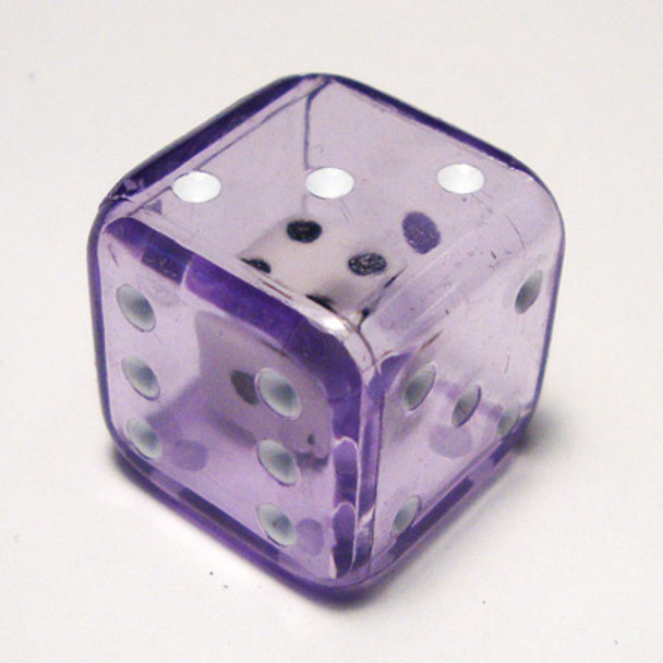 19mm Purple Double Dice