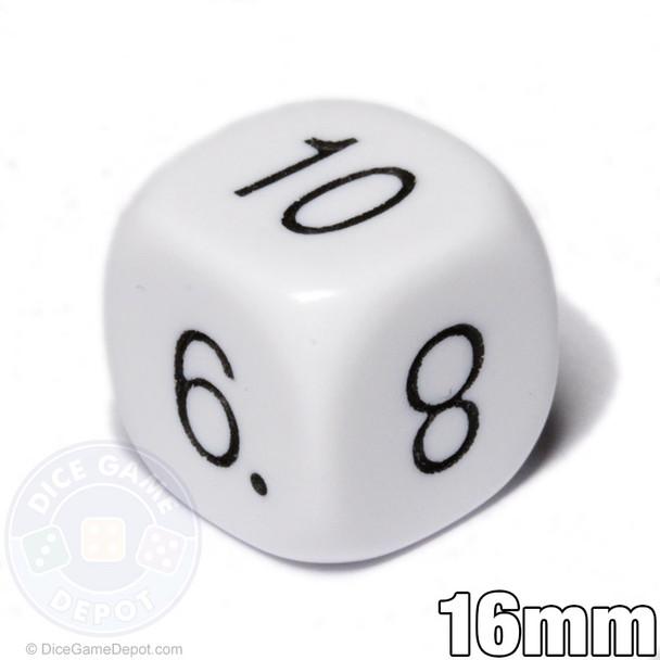 Math dice - Numerals 5-10