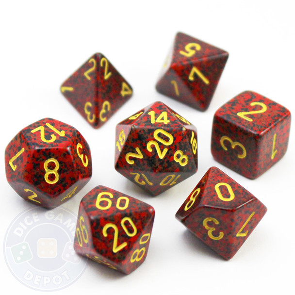 Elemental Mercury D&D dice set