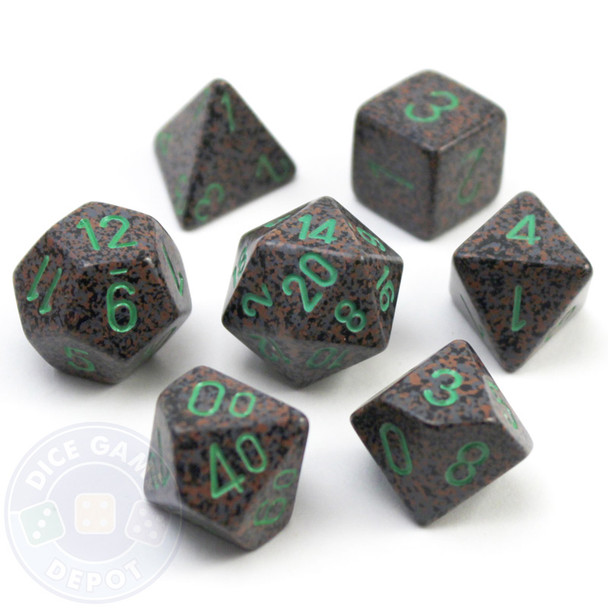 Elemental Earth D&D dice set