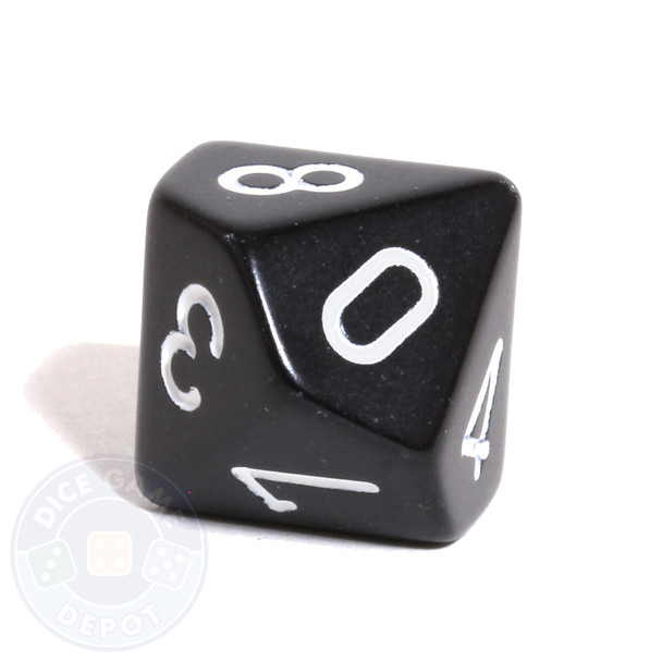 d10 - Black opaque 10-sided dice