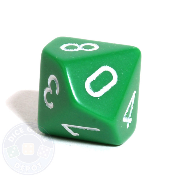 d10 - Opaque green 10-sided dice