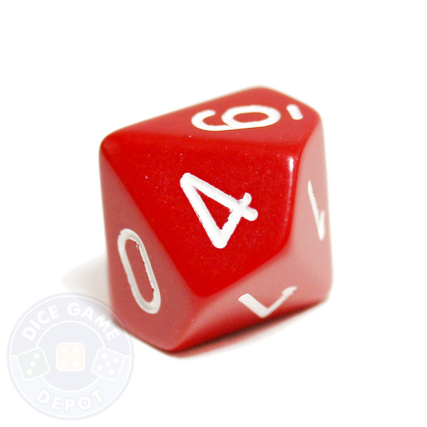 d10 - Opaque Red