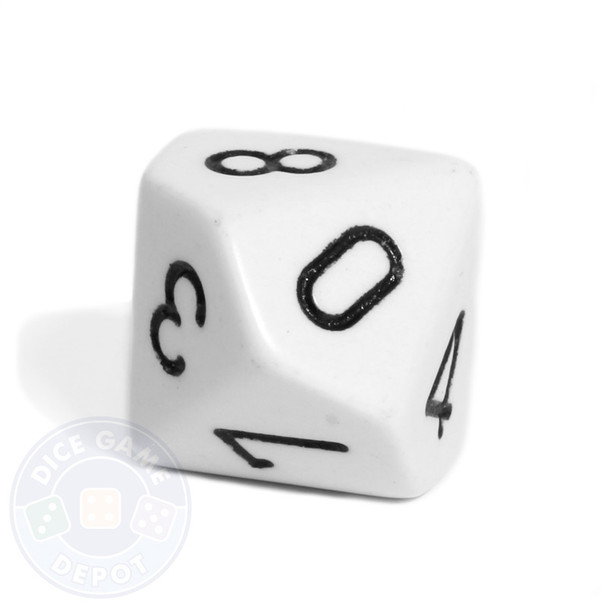 d10 - White 10-sided dice
