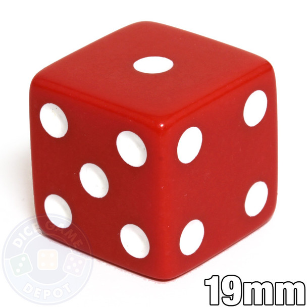 Opaque Red Dice - 19mm