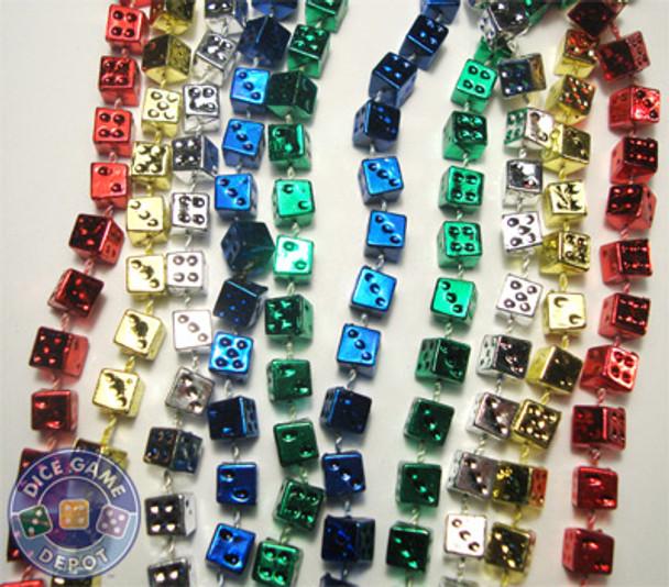 Dice bead throw necklaces