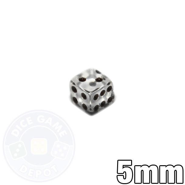5mm transparent dice