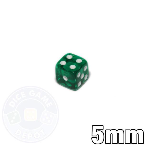 5mm transparent emerald dice