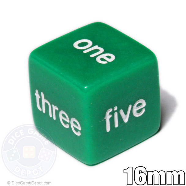 Word number dice - Green