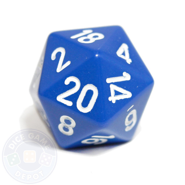 20-sided blue dice