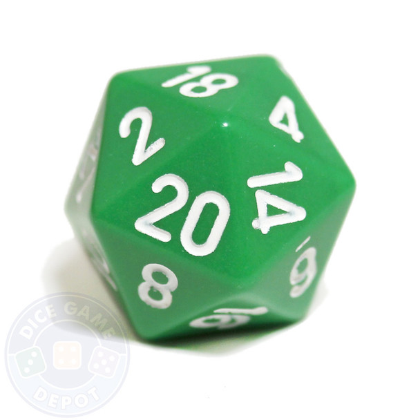 20-sided dice - Green
