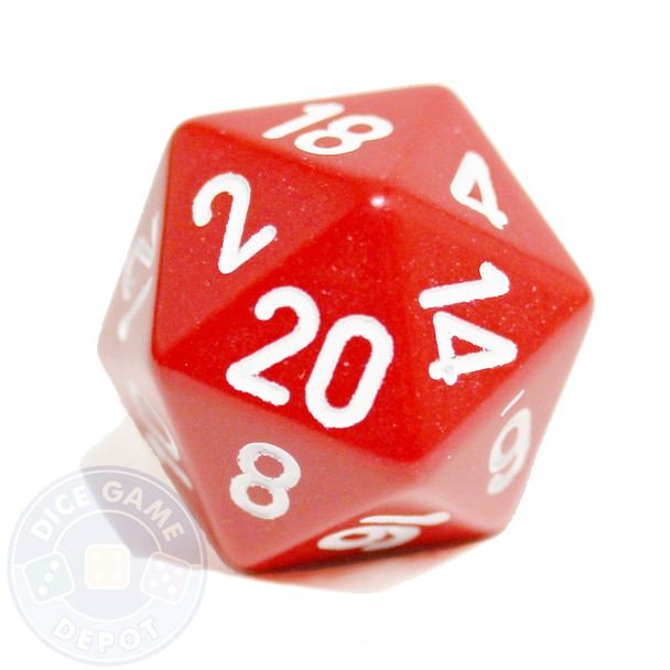 20-sided dice - Red