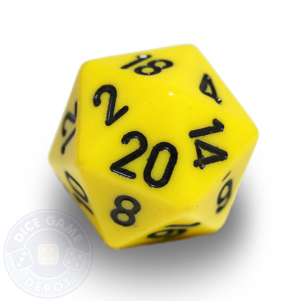 20-sided dice - Yellow