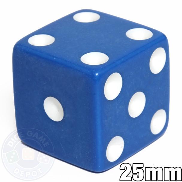 25mm Opaque Blue Dice
