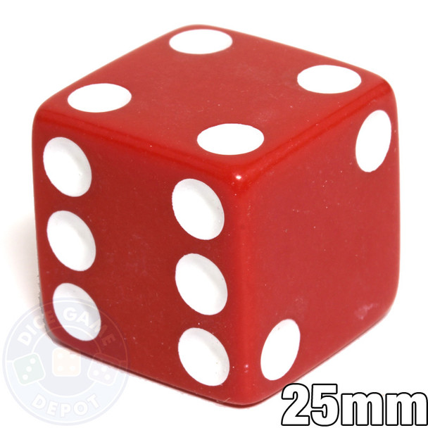 25mm Opaque Red Dice