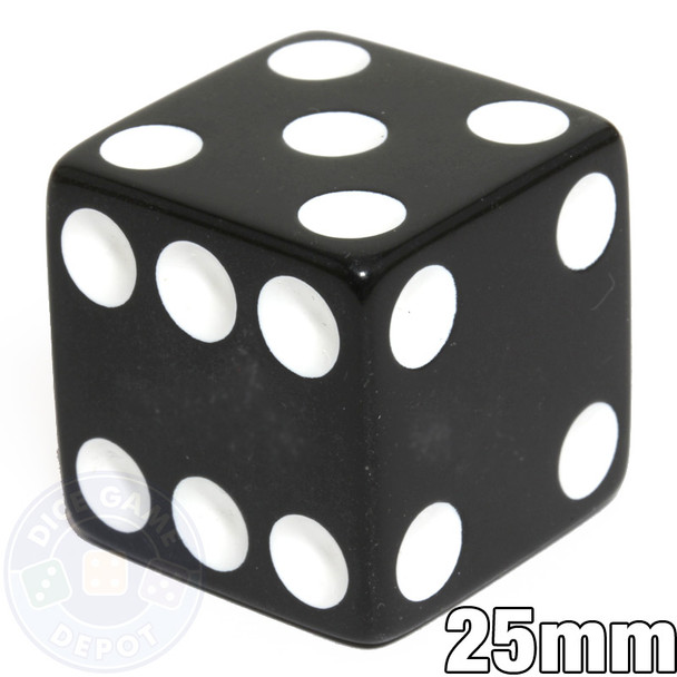 25mm Opaque Black Dice