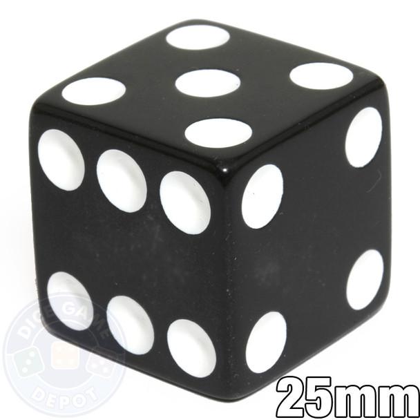 25mm Opaque Black Dice