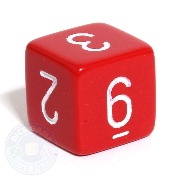 Opaque d6 - Red