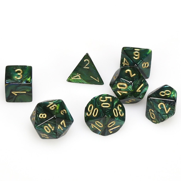 Scarab D&D dice set - Jade