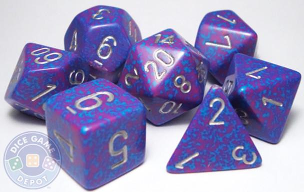 RPG dice set - Silver Tetra