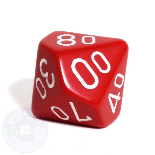 d10 percentile tens dice - Red