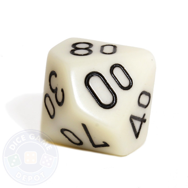 d10 percentile tens dice - Ivory