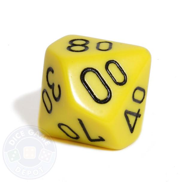 d10 percentile tens dice - Yellow