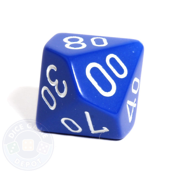 d10 percentile tens dice - Blue