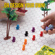 Peeples Board Game Pawns - Pack of 100