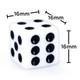 white opaque dice
