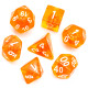 Orange Zest dice set - D&D dice, polyhedrals