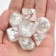 Winter season polyhedral dice set