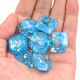 Summer season polyhedral dice set