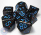 Blue Stars polyhedral dice set