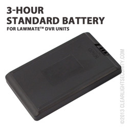3 Hour Standard Battery for LawMate DVRs