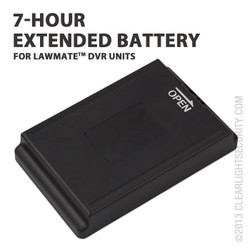 LawMate 7 Hour Portable DVR Battery