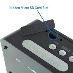 Hidden Micro SD Card Slot
